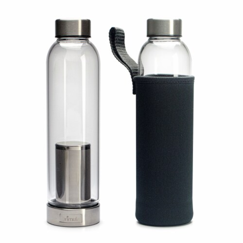Primula Brew & Travel Cold Brew Glass Bottle with Sleeve - Black Perspective: back