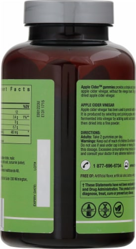 New Nordic® Apple Cider™ Dietary Supplement Gummies Perspective: back