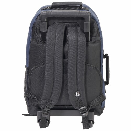 Everest Small Wheeled Backpack - Navy/Black Perspective: back
