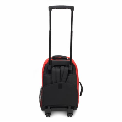 Everest Wheeled Backpack - Red/Black Perspective: back