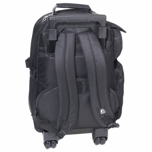 Everest Deluxe Wheeled Backpack - Khaki/Black Perspective: back