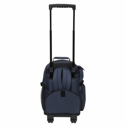 Everest Deluxe Large Wheeled Backpack - Navy Perspective: back