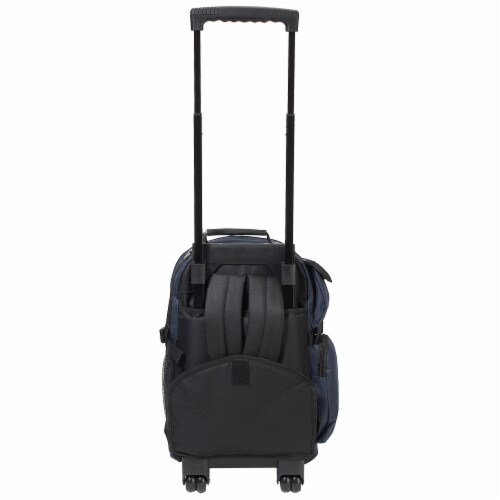 Everest Deluxe Wheeled Backpack - Navy/Gray Perspective: back