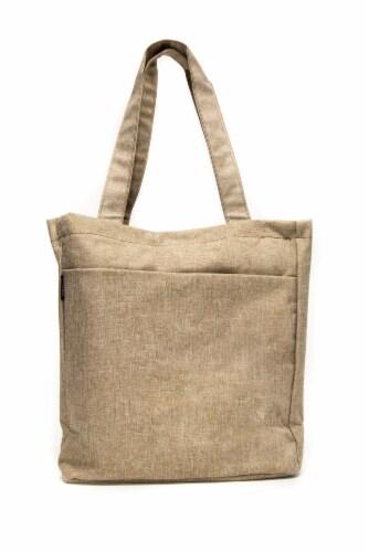 Everest Laptop & Tablet Tote Bag - Tan/Dark Brown Perspective: back