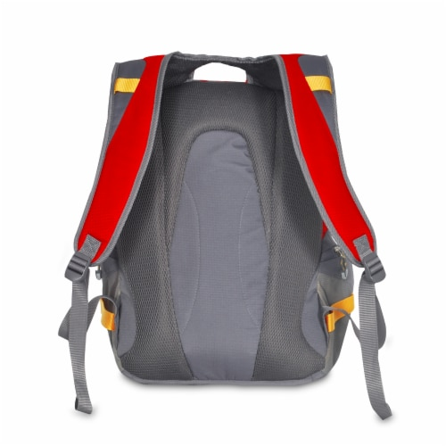 Everest Deluxe Traveler's Laptop Backpack - Red/Gray Perspective: back