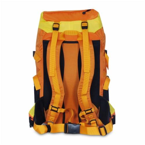Everest Weekender Hiking Backpack - Orange/Yellow Perspective: back