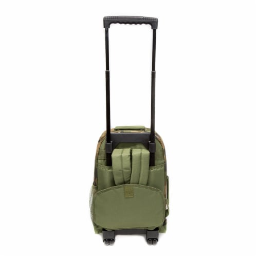 Everest Wheeled Backpack - Woodland Camo Perspective: back