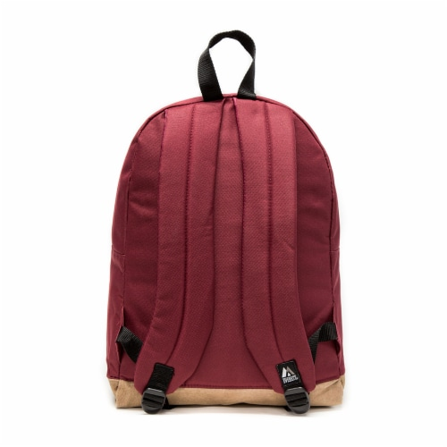 Everest Suede Bottom Backpack - Burgundy Perspective: back