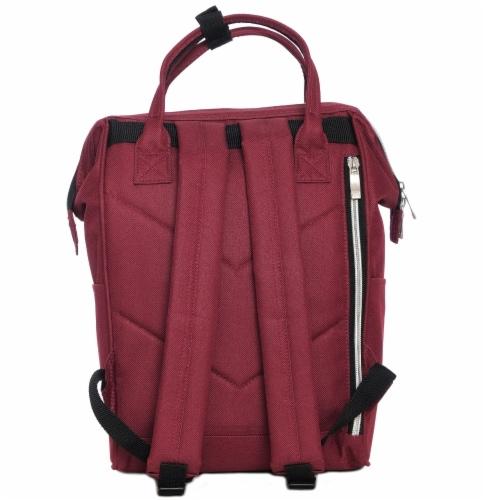 Everest Mini Handbag Backpack - Burgundy Perspective: back