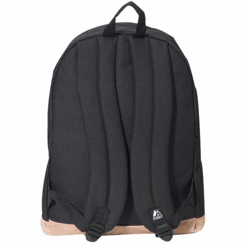 Everest Suede Bottom Backpack - Black Perspective: back