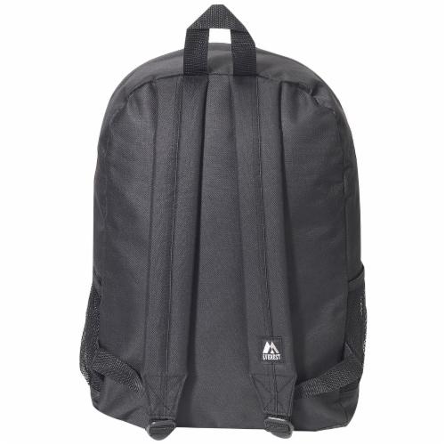Everest Backpack with Front & Side Pockets - Black Perspective: back