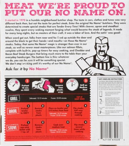No Name Original Steak Perspective: back
