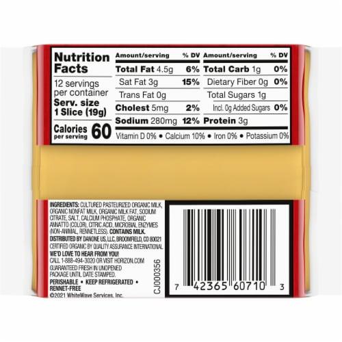 Horizon Organic American Cheese Singles Perspective: back