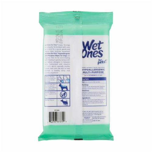 Wet Ones for Pets Extra Gentle Hypoallergenic Multipurpose Wipes Perspective: back