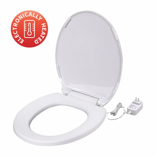 UltraTouch 01811 12 Watt 12 Volt UL Listed Round Bowl White Heated Toilet Seat Perspective: back