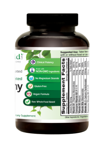 Emerald Labs CoEnzymated B Healthy Vegetable Capsules Perspective: back