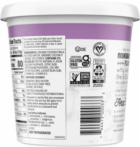 SO Delicious Dairy Free Unsweetened Vanilla Coconutmilk Yogurt Alternative Perspective: back