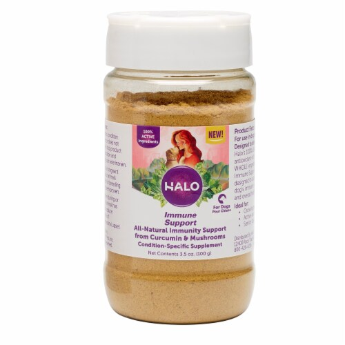 HALO Immune Support Curcumin & Mushroom Natural Dog Supplements Perspective: back