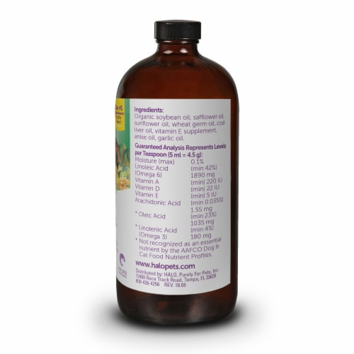 HALO Vita Glo Dream Coat for Dogs & Cats Natural Meal Enhancement Perspective: back