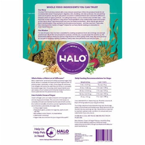 HALO Ocean of Vegan Recipe Natural Dry Dog Food Perspective: back