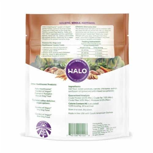 HALO Healthsome Garden of Vegan Sweet Potato Carrot & Quinoa Dog Treat Cookie Perspective: back