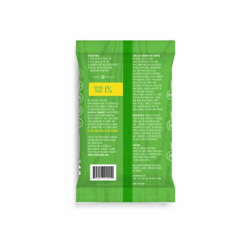 Simpleaf Aloe Vera Flushable Wipes 25 count, 2 packs Perspective: back