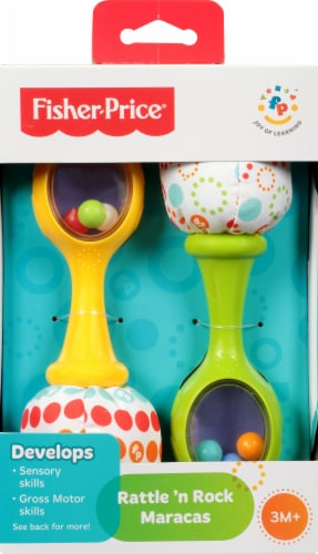 Fisher-Price® Rattle 'N Rock Maracas Musical Toy Perspective: back