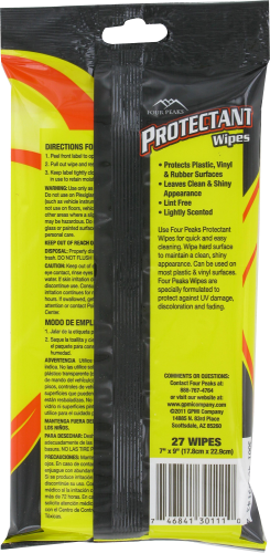 Four Peaks Protectant Wipes Perspective: back