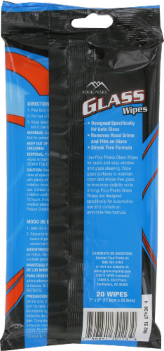 Four Peaks Glass Wipes Perspective: back