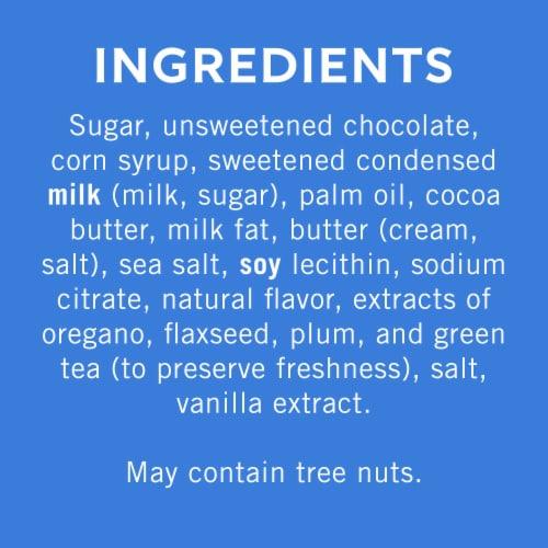 Ghirardelli Dark Chocolate Sea Salt Caramel Squares Perspective: back