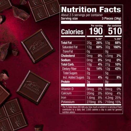 Ghirardelli Intense Dark 92% Cacao Chocolate Bar Perspective: back
