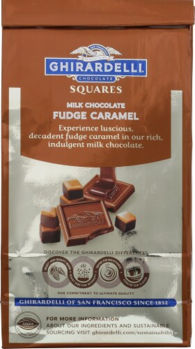 Ghirardelli Milk Chocolate Fudge Caramel Squares Perspective: back
