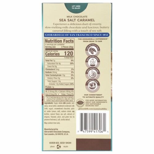 Ghirardelli Sea Salt Caramel Milk Chocolate Bar Perspective: back