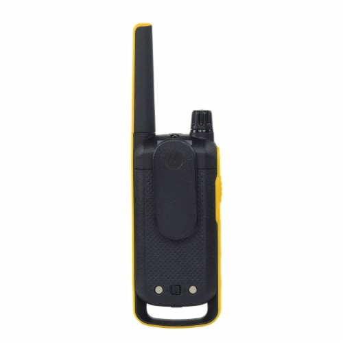 Motorola Solutions Talkabout T475 Two-Way Radios - Black/Yellow Perspective: back