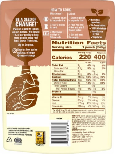 Seeds of Change Organic Seven Whole Grains Rice Perspective: back