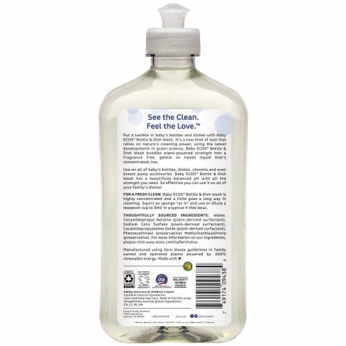 ECOS Baby Bottle Wash & Dish Soap Perspective: back