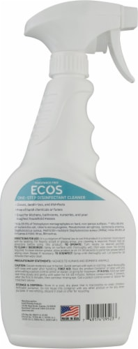ECOS® One-Step Disinfectant Fragrance Free Cleaner Perspective: back