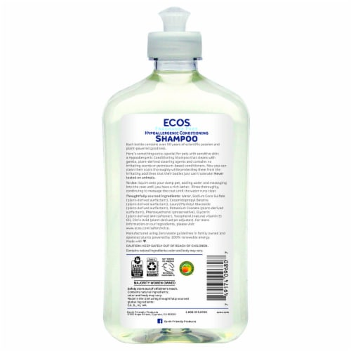 ECOS™ For Pets Fragrance Free Conditioning Shampoo Perspective: back