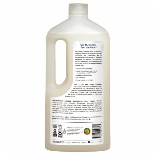 ECOS® Wave® Free & Clear Auto Dishwasher Gel Perspective: back