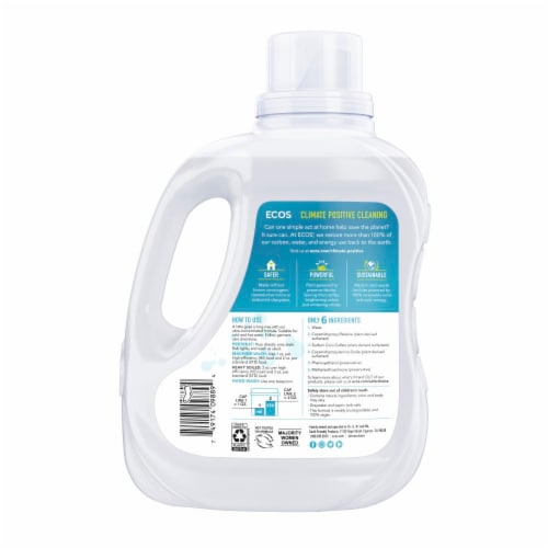 ECOS® 2x Free and Clear Laundry Detergent Perspective: back