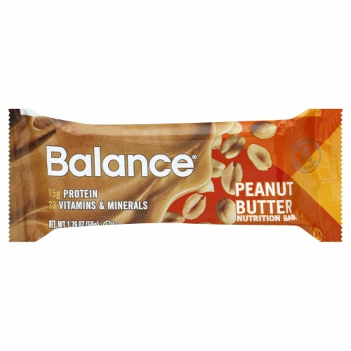 Balance Peanut Butter Nutrition Bar Perspective: back