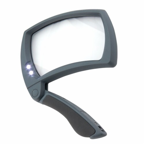 Carson Lighted MagniFold 2x Power LED Handheld Magnifier Perspective: back