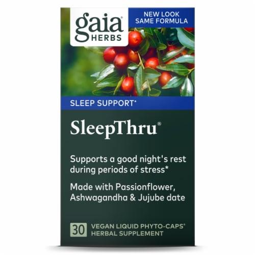 Gaia® Herbs SleepThru® Herbal Supplement Perspective: back