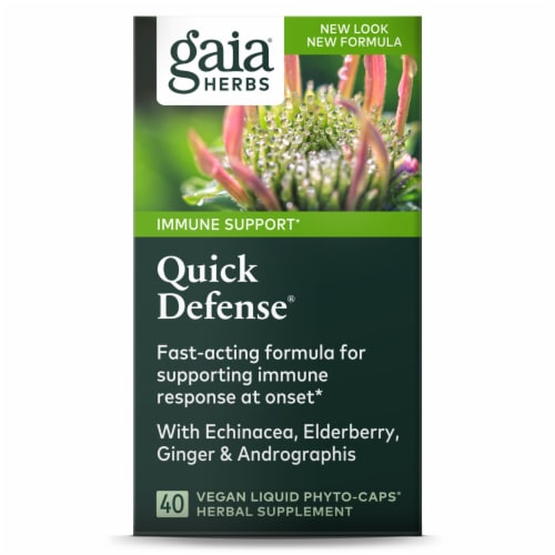 Gaia® Herbs Quick Defense® Herbal Supplement Perspective: back