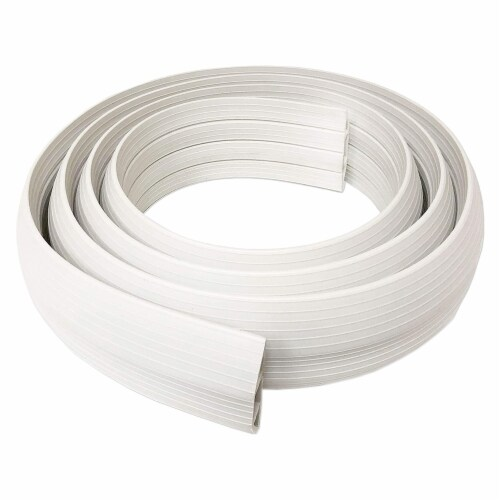 Cable Man Dimex 3 In x 5 Ft Floor Channel Wire, Cord, and Cable Protector, Ivory Perspective: back