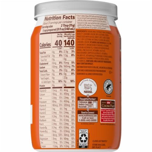 Ovaltine® Chocolate Malt Milk Mix Perspective: back