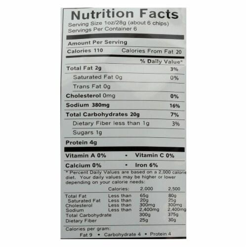 Hometown Bagel Bagel Chips - Everything - Case of 12 - 6 oz Perspective: back