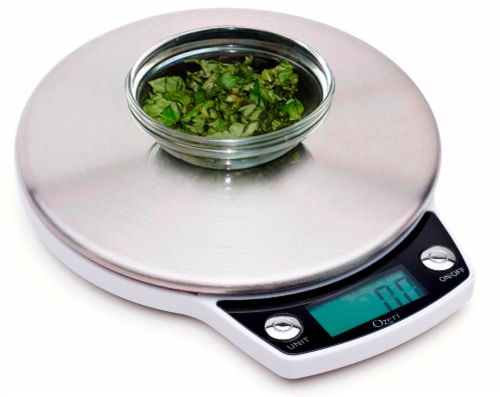 Ozeri Precision Pro Stainless-Steel Digital Kitchen Scale with Oversized Weighing Platform Perspective: back