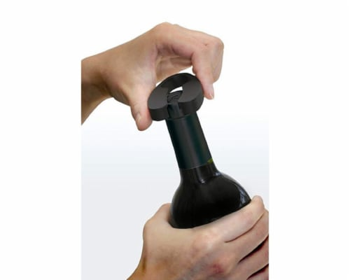 Ozeri Pro Electric Wine Bottle Opener with Wine Pourer, Foil Cutter and Recharging Stand Perspective: back