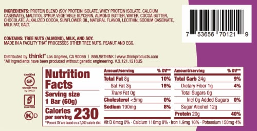think! Chocolate Fudge High Protein Bar Perspective: back